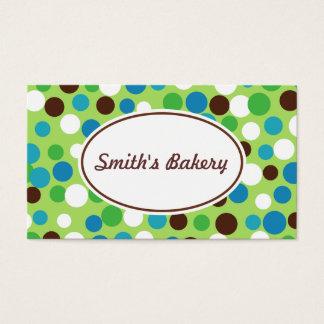 Green Bouncing Dots Business Card