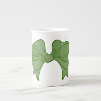 Green Bow Bone China Mug
