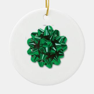 Green Bow Christmas Tree Ornament