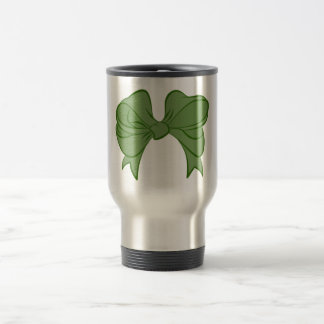 Green Bow Travel Mug