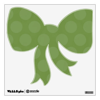 Green Bow Wall Decal