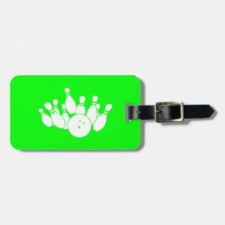 Green Bowling Bag Tag