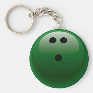 GREEN BOWLING BALL KEYCHAIN