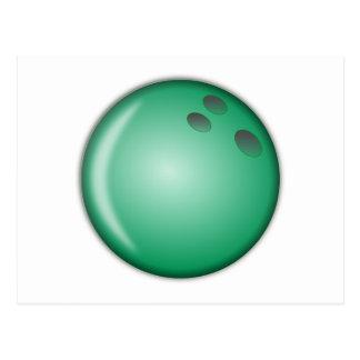 Green Bowling Ball Postcard