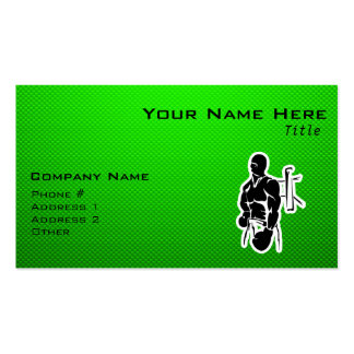 Green Boxing Double-Sided Standard Business Cards (Pack Of 100)