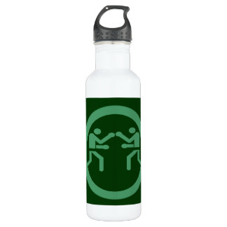 GREEN BOXING 24OZ WATER BOTTLE