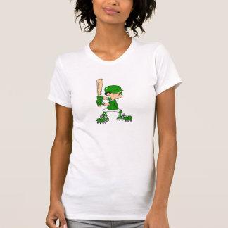Green Boy Baseball Batter T-Shirt