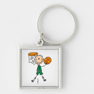 Green Boy Basketball Player t-shirts and Gifts Keychain