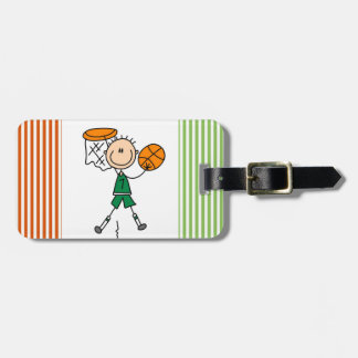 Green Boy Basketball Player t-shirts and Gifts Luggage Tag