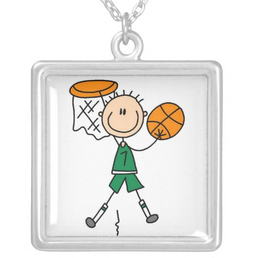 Green Boy Basketball Player t-shirts and Gifts Pendants