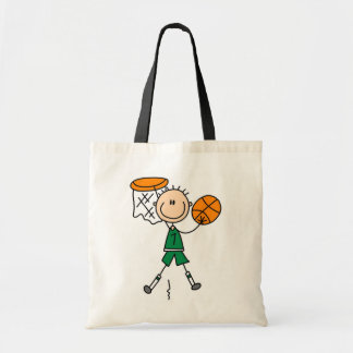 Green Boy Basketball Player t-shirts and Gifts Tote Bag