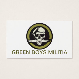 GREEN BOYS BNESS CARDS