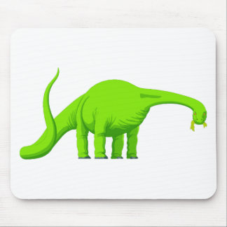 Green Brachiosarus Dinosaur 3 Mouse Pad