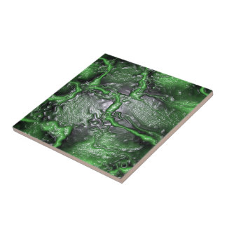 Green Brainmatter (Alien) Ceramic Tile