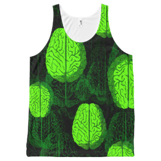 Green Brains! All-Over Printed Unisex Tank