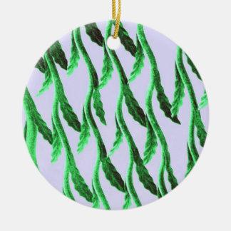 Green branches ceramic ornament