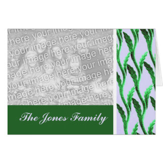 green branches pattern card
