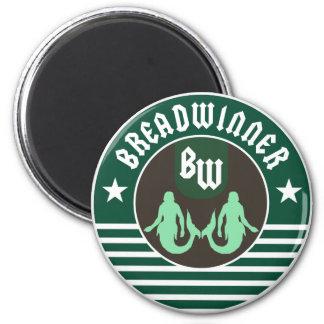 Green Breadwinner Magnet
