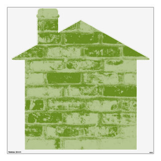 Green Brick House Wall Decal