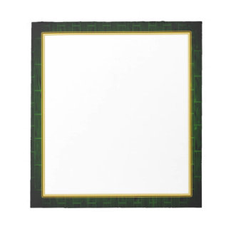 Green Brick on White Small Note Pad