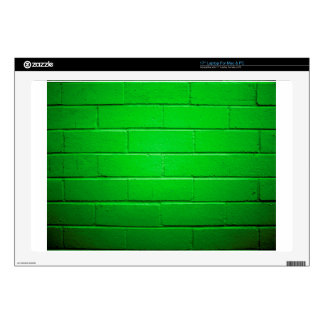 "Green Brick Wall 17"" Laptop Decal"