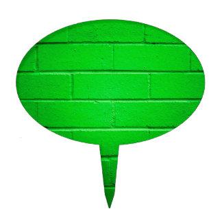 Green Brick Wall Cake Topper