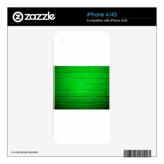 Green Brick Wall iPhone 4S Decal