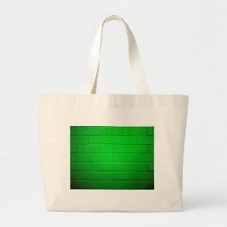 Green Brick Wall Large Tote Bag