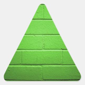 Green Brick Wall Triangle Sticker