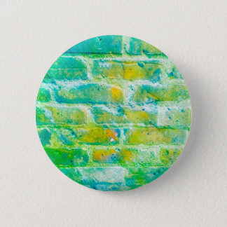 Green bricks badge pinback button
