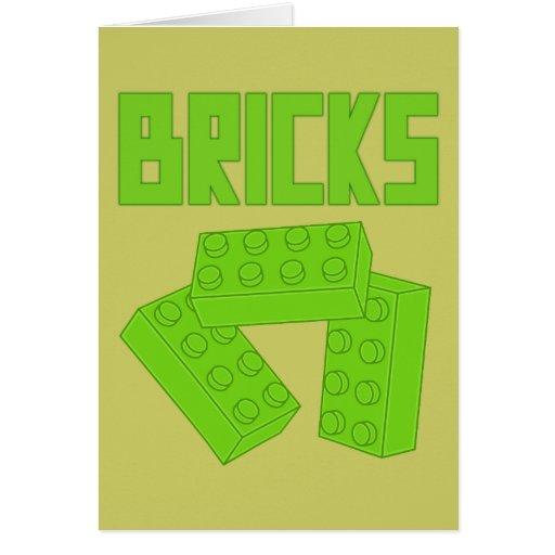 Green Bricks by Customize My Minifig Card