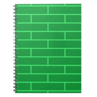 Green Bricks Structure Pattern Notebook