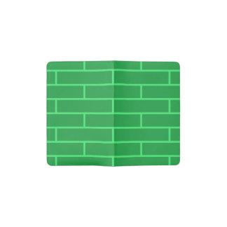 Green Bricks Structure Pattern Pocket Moleskine Notebook