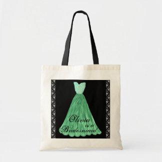 GREEN Bridesmaid Dresses Cotton Tote Bag