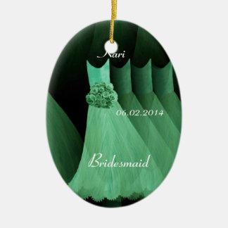 Green Bridesmaid Thank You Wedding V004 Ceramic Ornament