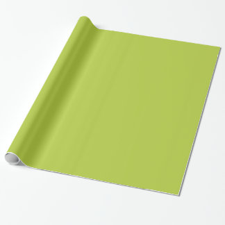 Green Bright Chartreuse. Solid Color Fashion Trend Gift Wrapping Paper