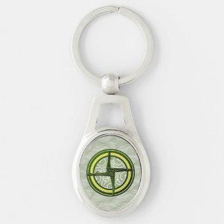 Green Brigid's Cross on Green Keychain