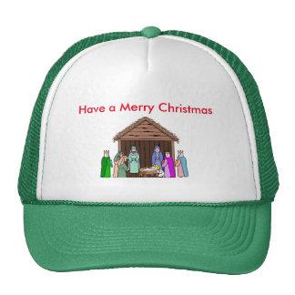 Green Brim Christmas Trucker Hat