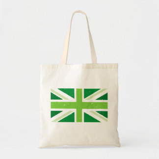 Green Britain, Union jack Budget Tote Bag