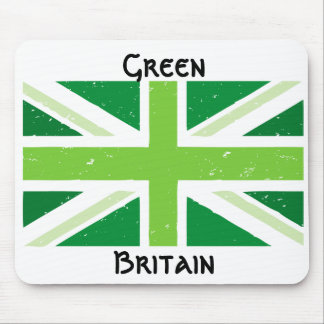 Green britain, Union jack Mouse Pad