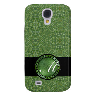 Green Brocade Monogram Speck iPhone 3 Cases
