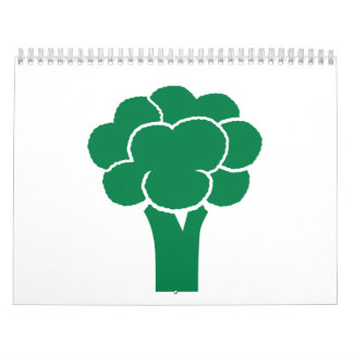 Green broccoli wall calendar