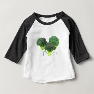 Green Broccoli Crowns on White Baby T-Shirt