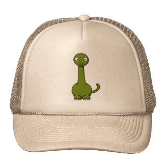 Green Brontosaurus Cartoon Trucker Hats
