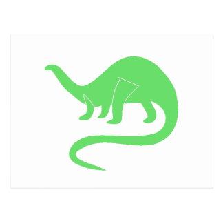 Green Brontosaurus Postcard