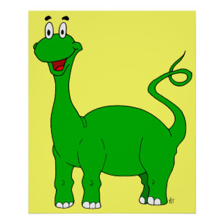 Green Brontosaurus Poster