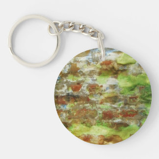 Green & Brown Abstract Painting Keychain