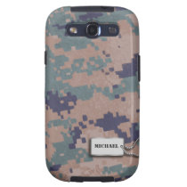Green, Brown and Black  Digital Camouflage Samsung Galaxy S3 Covers