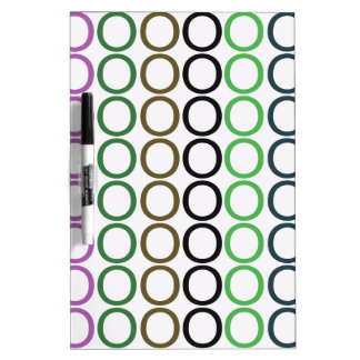 Green,Brown,and Purple Splash of O's Dry-Erase Board