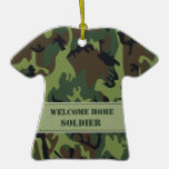 Green / Brown Army Camouflage - Welcome Home! Christmas Tree Ornament
